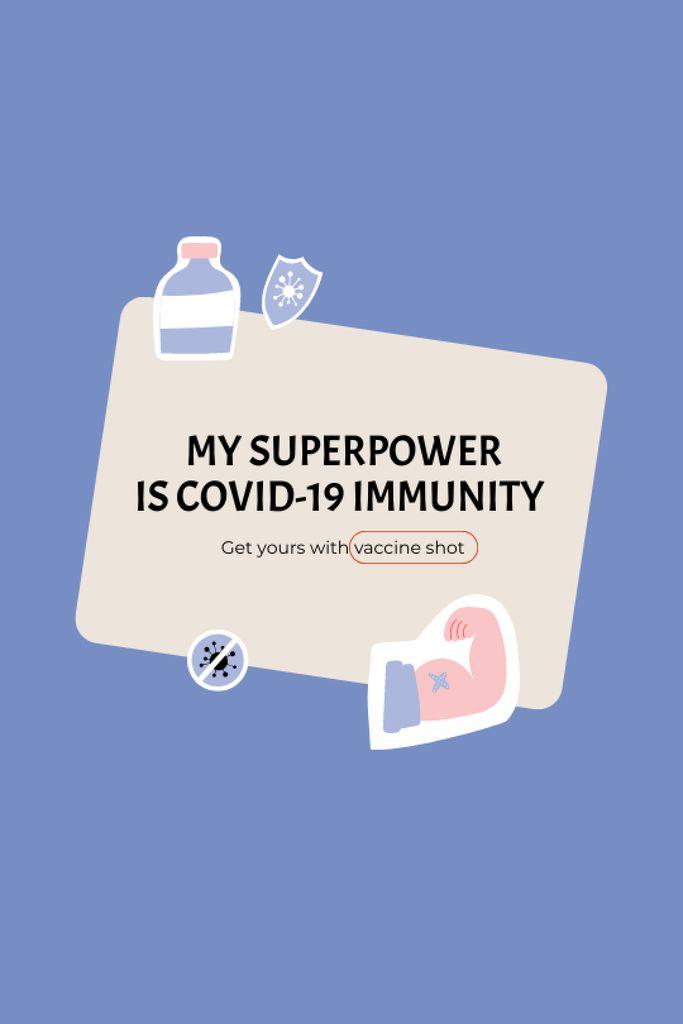 Szablon projektu Virus Vaccination Ad with Vaccine Bottle Tumblr