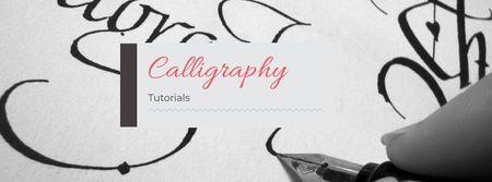 Ontwerpsjabloon van Facebook cover van Calligraphy Learning Offer