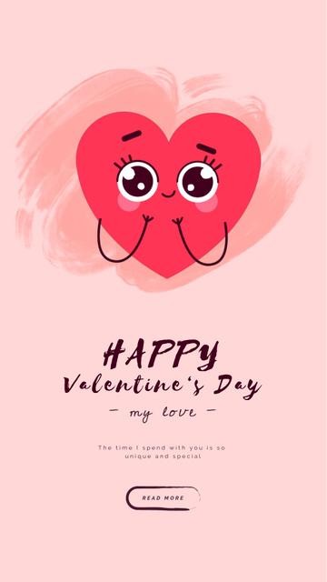Template di design Valentine's Day Loving Hearts Instagram Video Story