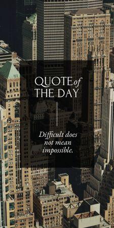 Plantilla de diseño de Business Quote with City Skyscrapers Graphic