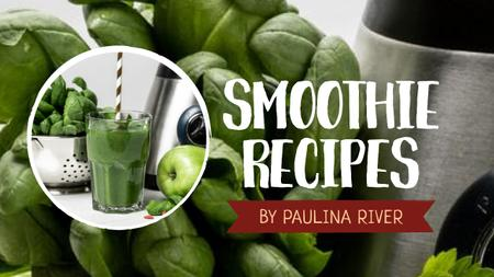 Template di design Smoothie Recipe Green Fruits and Vegetables Youtube Thumbnail