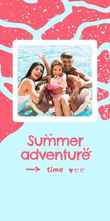 Summer Inspiration with Happy Family in Sea Graphic – шаблон для дизайна