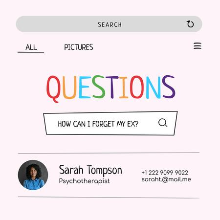 Funny Joke with Psychotherapist Profile Instagram – шаблон для дизайну