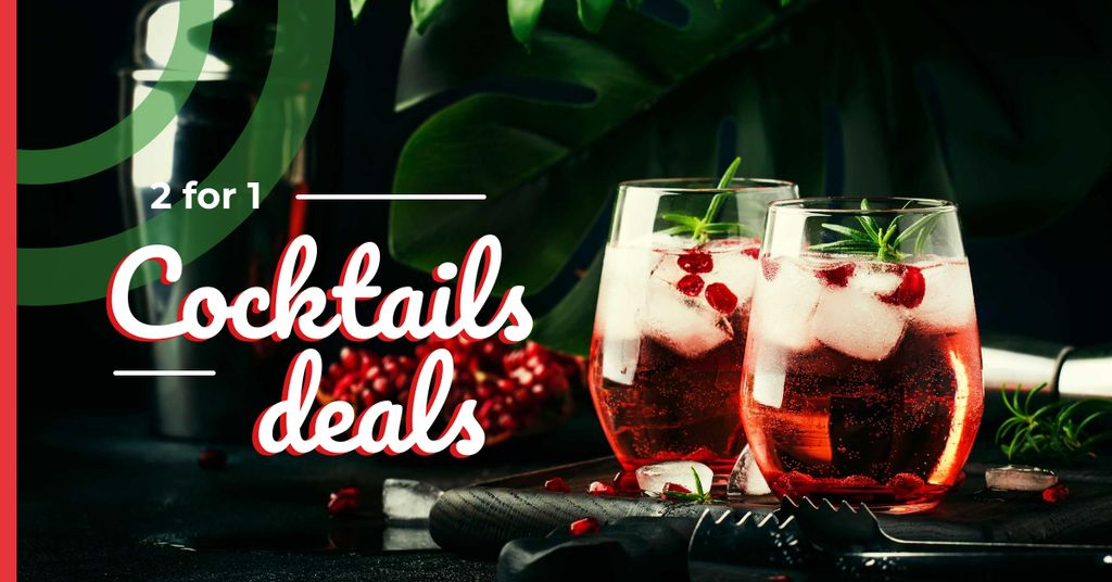 Glasses with iced drinks — Modelo de projeto