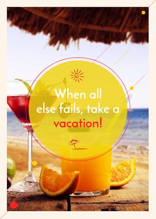 Vacation Offer Cocktail at the Beach Invitation – шаблон для дизайну
