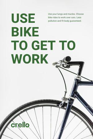 Ecological Bike to Work Concept Tumblr tervezősablon