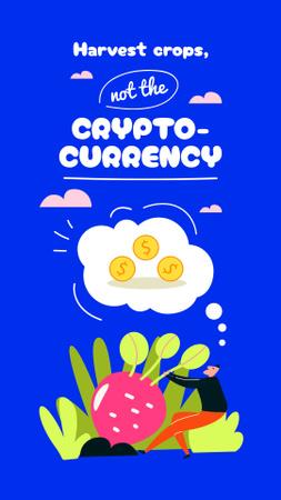 Plantilla de diseño de Funny Joke about Cryptocurrency Instagram Story