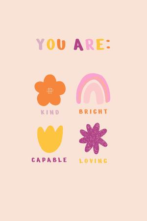 Plantilla de diseño de Cute Inspiration of Mental Health Pinterest