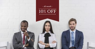 Discount Offer with Businesspeople
