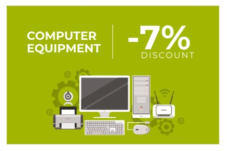 Plantilla de diseño de Discount for computer equipment Gift Certificate