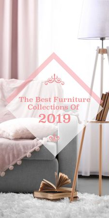 Furniture Offer Cozy Interior in Light Colors Graphicデザインテンプレート