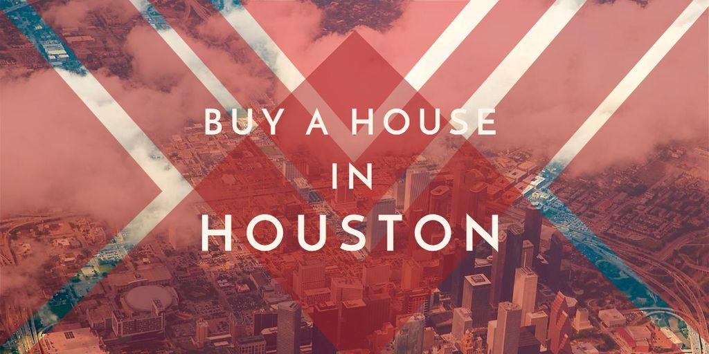Real Estate ad in red Image – шаблон для дизайна