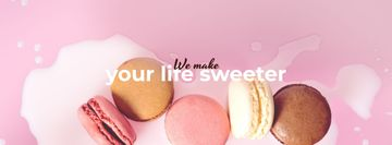 Bakery ad with Macaron cookies