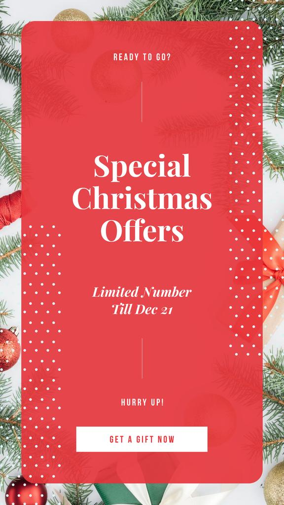 Special Offers with Christmas gift boxes — Crear un diseño