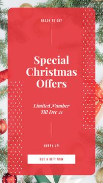 Special Offers with Christmas gift boxes