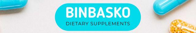 Ontwerpsjabloon van LinkedIn Cover van Dietary Supplements manufacturer profile with Pills