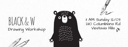 Ontwerpsjabloon van Facebook Video cover van Scary black bear