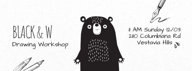 Template di design Scary black bear Facebook Video cover