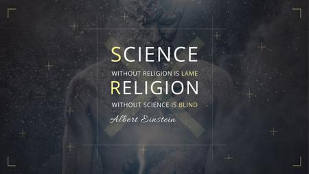 Citation about science and religion Youtubeデザインテンプレート