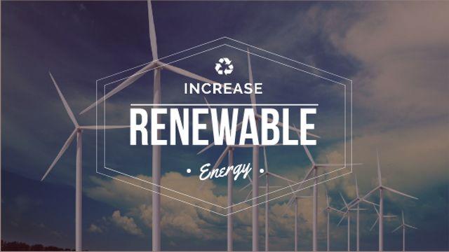 Plantilla de diseño de Renewable Energy Wind Turbines Farm Title