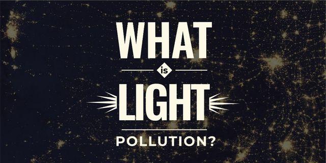 Plantilla de diseño de Light pollution Ad Twitter