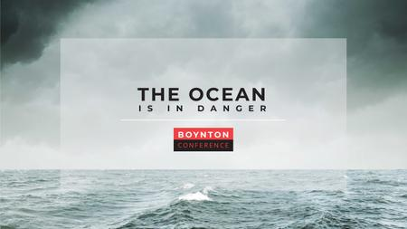 Ontwerpsjabloon van Youtube van Ecology Conference Invitation with Stormy Sea Waves