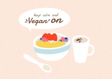 vegan Card – шаблон для дизайну