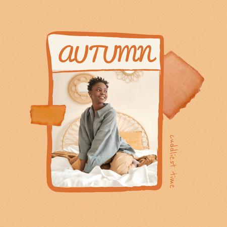 Autumn Inspiration with Girl in Cozy Bedroom Instagram Modelo de Design