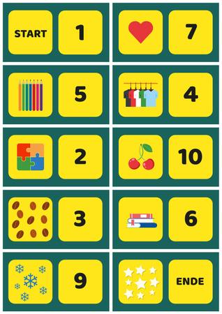 Plantilla de diseño de School Chart with Numbers to Count Poster