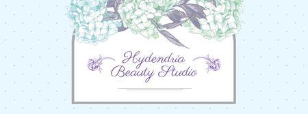 Modèle de visuel Beauty Studio Ad on Floral pattern - Facebook cover