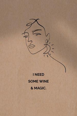 Template di design Female silhouette with Wish Tumblr
