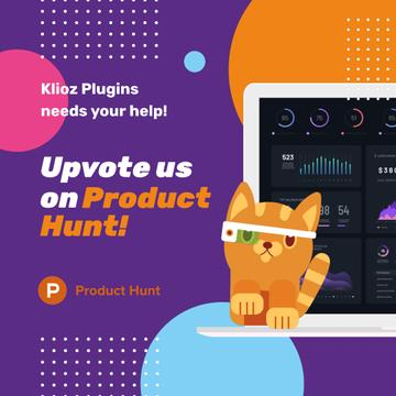 Product Hunt App with Stats on Screen