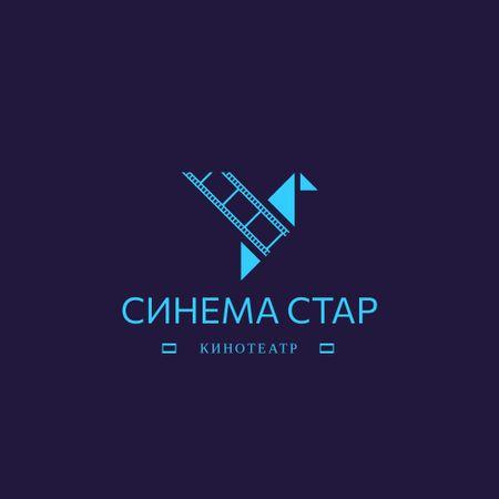 Cinema Club Ad with Film Icon Animated Logo – шаблон для дизайна