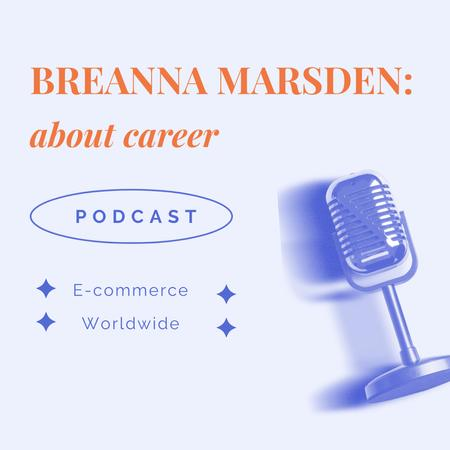 Ontwerpsjabloon van Instagram van Podcast Topic Announcement with Studio Microphone