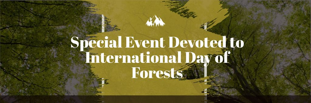 International Day of Forests Event Tall Trees Twitter Design Template
