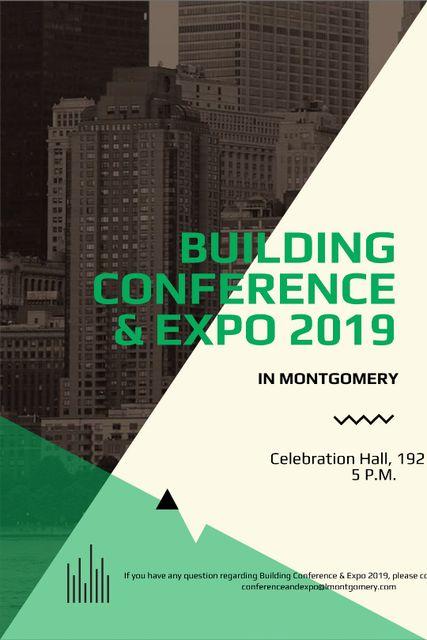 Plantilla de diseño de Building conference invitation on Skyscrapers in city Tumblr