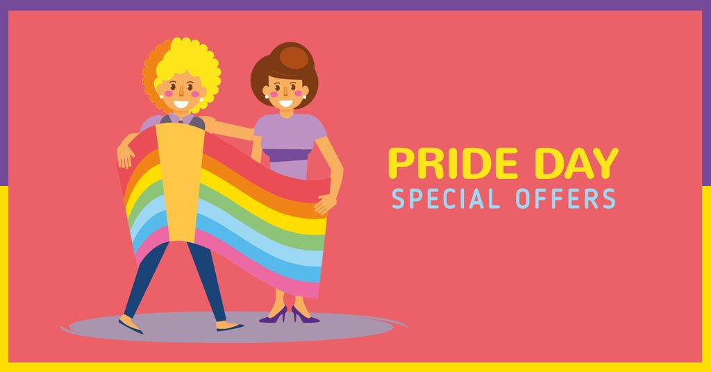Pride Day Special Offer with LGBT Couple — Modelo de projeto