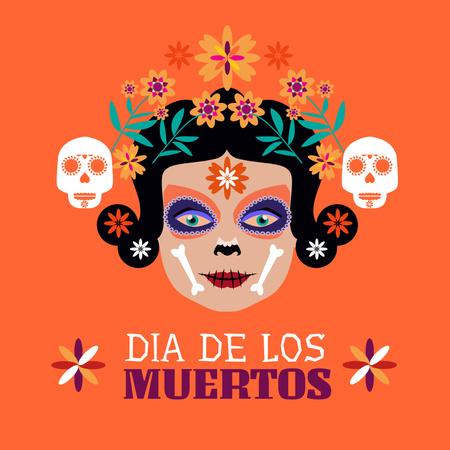 Dia de los Muertos Holiday Celebration Instagram – шаблон для дизайну