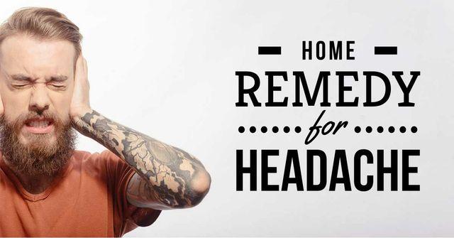 Home remedy for headache Facebook AD – шаблон для дизайна
