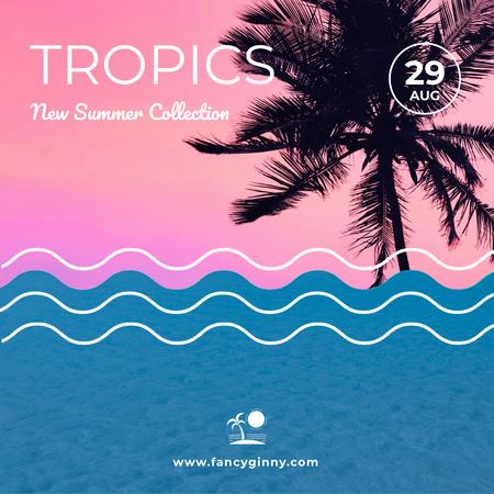 Summer collection in Tropics Coast View Instagram AD – шаблон для дизайна
