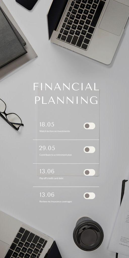 Finance Planning schedule Graphic – шаблон для дизайну