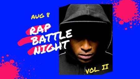 Rap Battle Night Announcement FB event cover – шаблон для дизайну