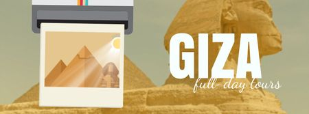 Ontwerpsjabloon van Facebook Video cover van Giza Pyramids and Sphinx