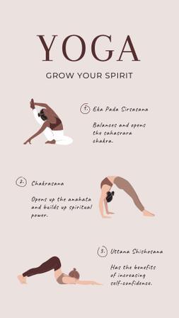 Plantilla de diseño de Yoga Inspiration with Woman doing Exercises Instagram Story