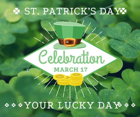 St. Patrick's day greeting card Facebook Tasarım Şablonu