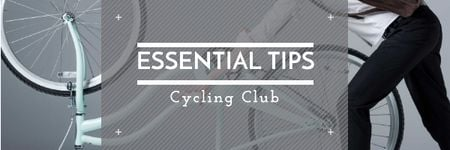 Plantilla de diseño de Essential tips for Cycling Club Email header
