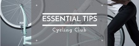 Essential tips for Cycling Club Email header Modelo de Design