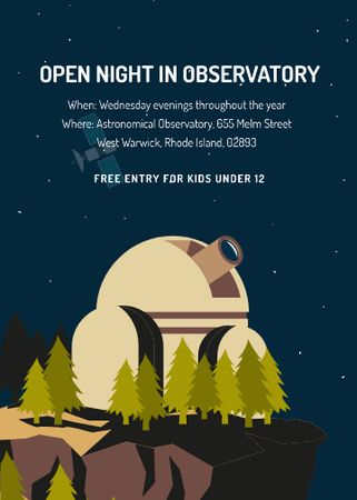 Open night in Observatory event Invitation – шаблон для дизайна