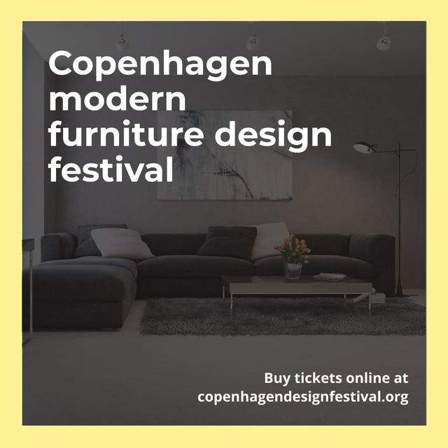 Modern furniture design festival Instagram AD Modelo de Design