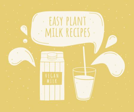 Vegan Concept with Plant Milk Facebook – шаблон для дизайна